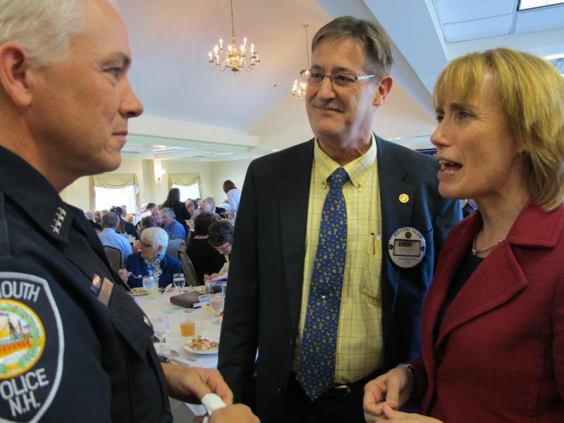 Maggie Hassan speaks with members of the Portsmouth Rotary Club