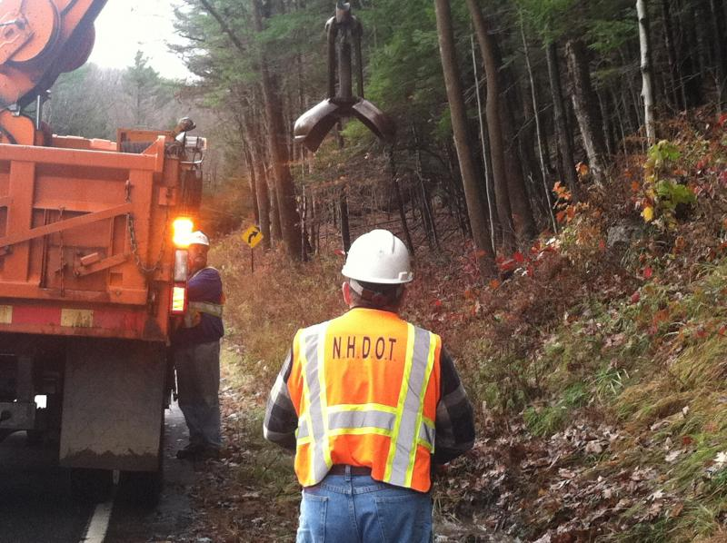 NH DOT crews along Route 9, near Sullivan