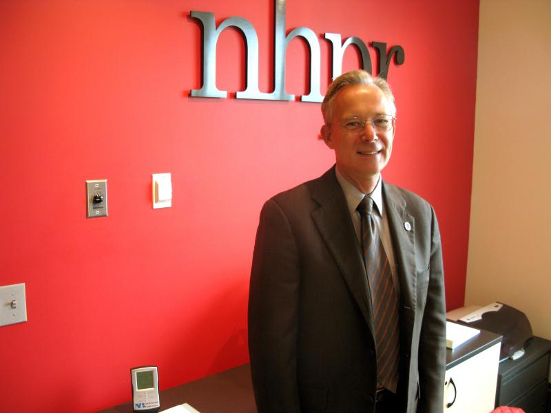 Libertarian candidate for governor John Babiarz at NHPR studios, October 16, 2012.
