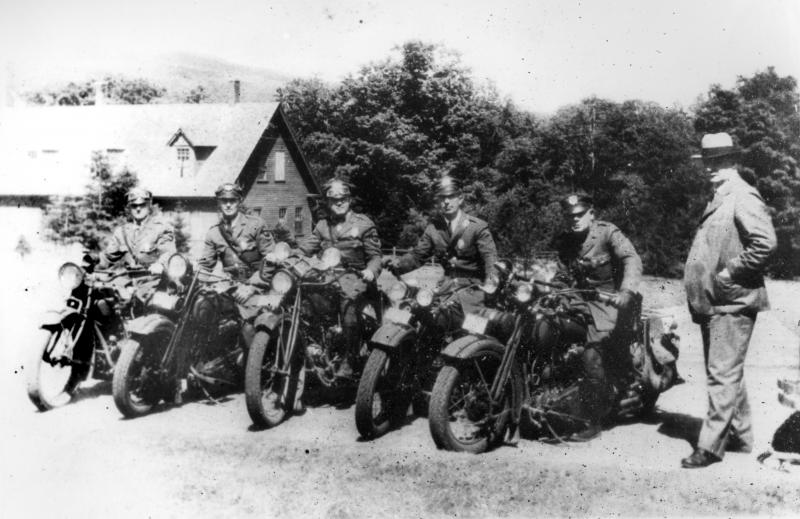 The early motorcycle troopers.