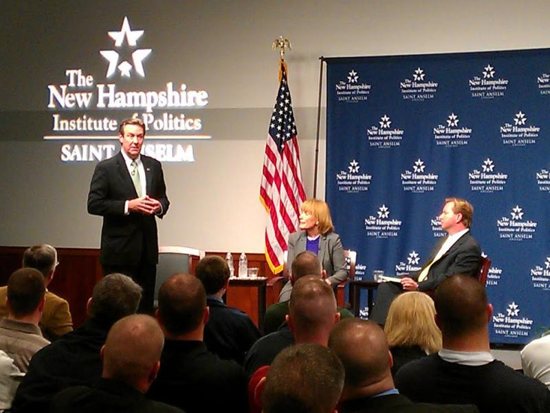Lamontagne and Hassan at the New Hampshire Institute of Politics