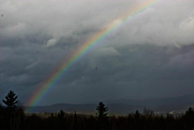 Rainbow over Littleton, morning after Sandy hit