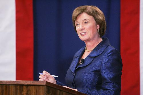 Carol Shea-Porter at a debate in 2010.