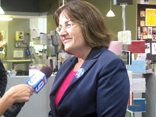Rep. Annie Kuster spoke in Peterborough Monday on the topic of clean energy