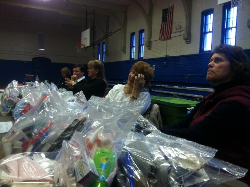 Bags full of hygiene products were available at the Project Homeless Event on Wednesday.