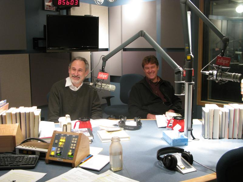 Michael Herrmann (L) & Dan Chartrand in the studio
