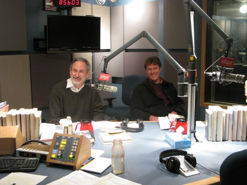 Michael Herrmann (L) & Dan Chartrand in the studio