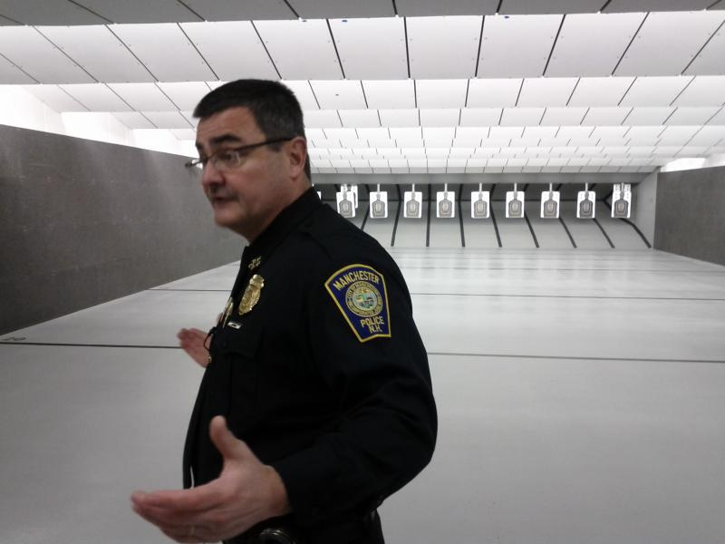 Chief Mara explains how the shooting range will be made available to help neighboring police stations in their training.