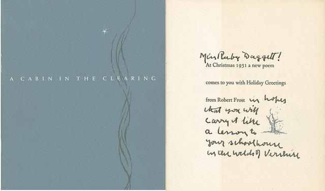 a new england christmas card from robert frost new hampshire