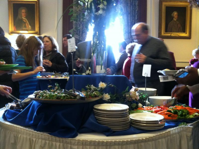 The spread at the reception following Maggie Hassan's inauguration.