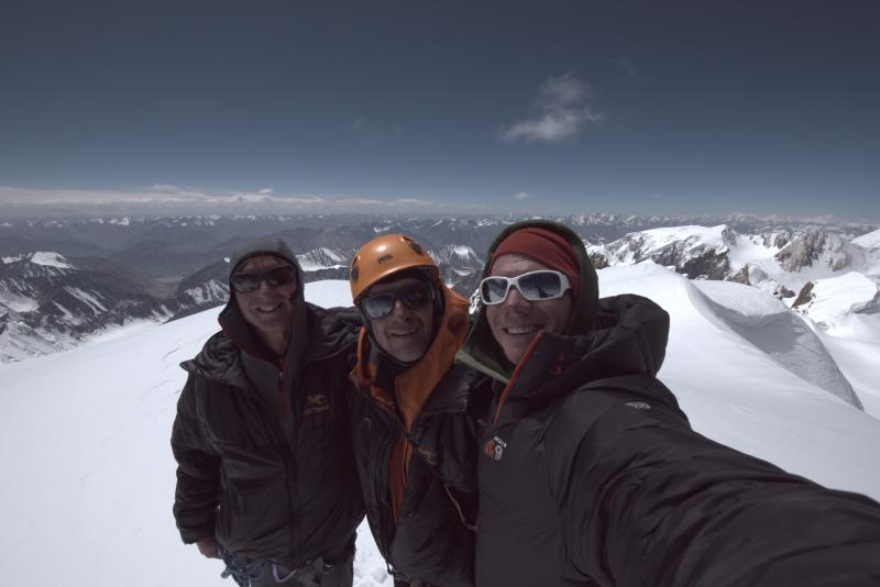 Mark Richey, Steve Swenson, and Freddie Wilkinson Summited Saser Kangri II on August 24, 2011. Their ascent, one of the highest first ascents of a mountain ever accomplished in alpine-style, received the prestigious Piolet d'Or (Golden Ice-axe).