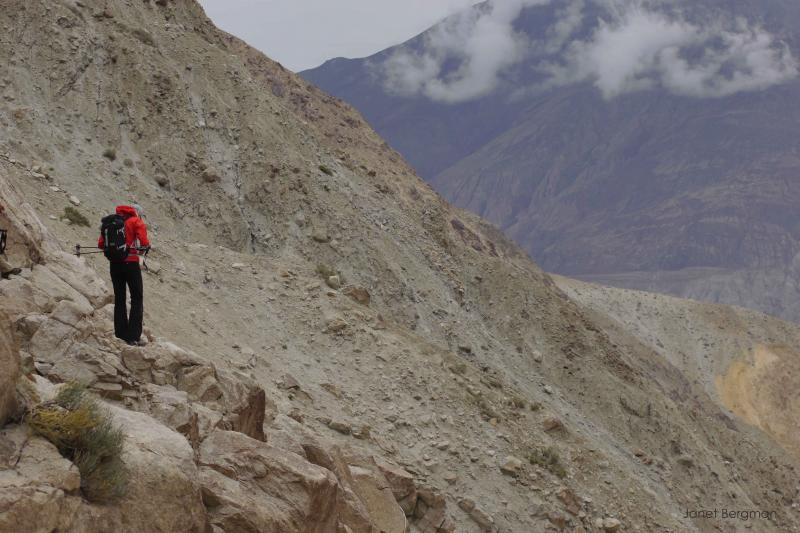 The climbers traveled by jeep to the Nubra Valley and made an arduous 3 day trek up a mountain canyon to reach basecamp.