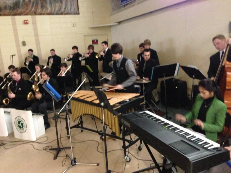 Manchester Central High's jazz band performs