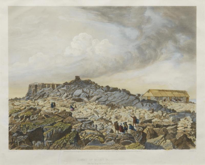 Summit of Mount Washington, 1858, Colored print