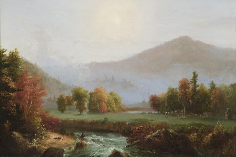 Morning Mist Rising, 1830, Oil on canvas, 15 1/8 x 22 1/8 inches