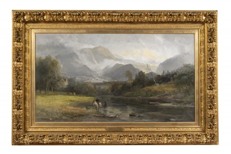 Franconia Notch, Date unknown, Oil on canvas, 24 x 43 inches