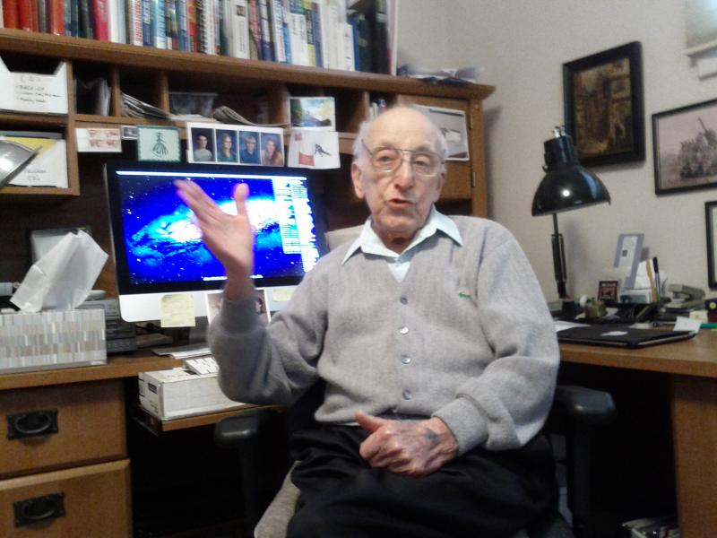 Ralph Baer in his home office.