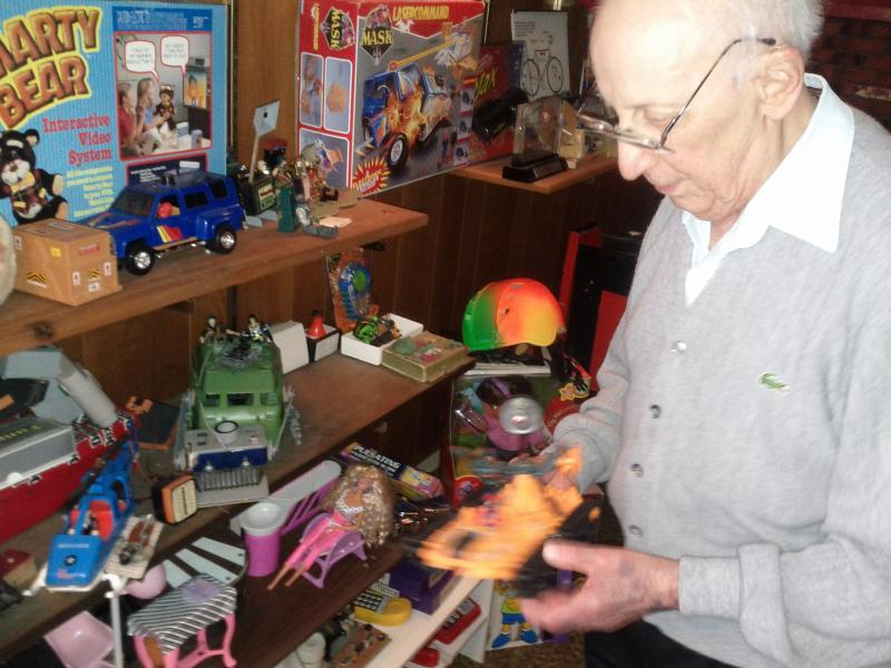 This nonagenarian still plays with action figures.