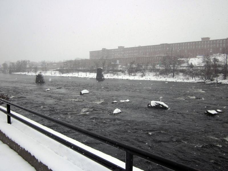 The Merrimack River as seen from UNH Manchester