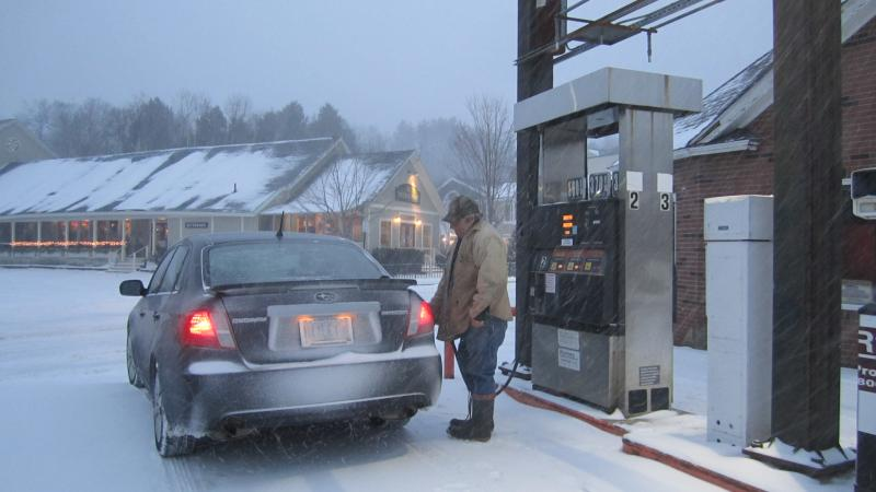 "The blizzard, or the high gas prices, led this motorist to say, ""I don't want to give you my name. Just call me 'miserable'."""