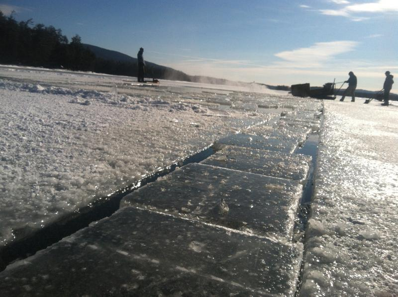 The ice harvest at Rockywold-Deephaven  has been keeping the camp's food cold for 115 years.