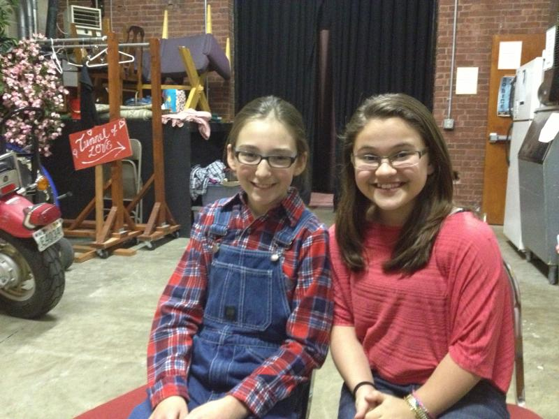 Kylee Brown (left) as Jem & Mattie Aubin (right) as Dill
