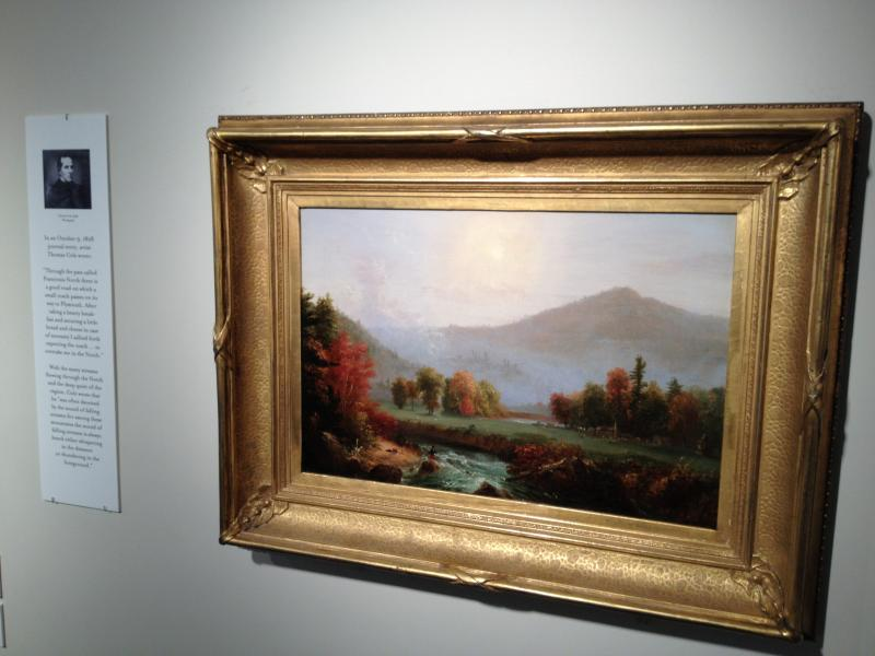 "Thomas Cole's ""Morning Mist Rising"" on display at the Musuem of the White Mountains"