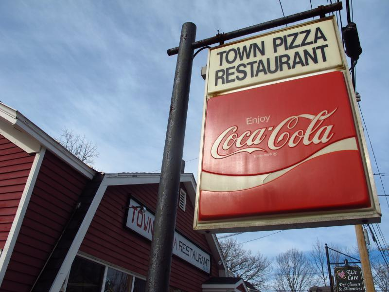Town Pizza in Kittery, ME is a popular lunch spot for Portsmouth Naval Shipyard workers