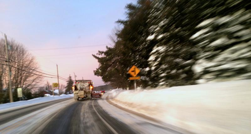 As the sun was setting, clean up crews were still out and active in Hooksett.