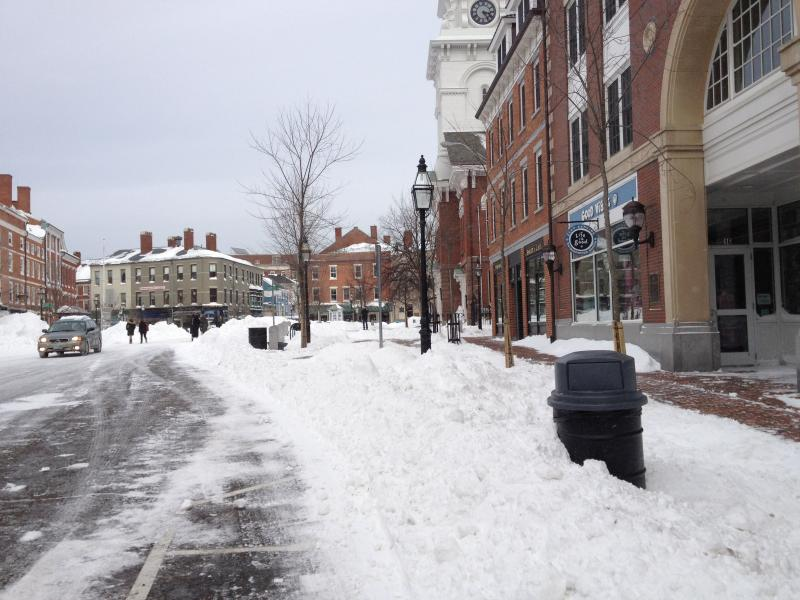 Downtown Portsmouth after the blizzard