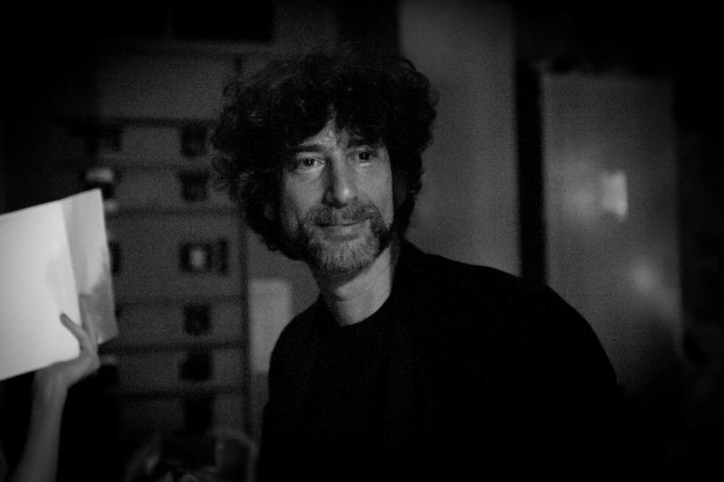Neil Gaiman backstage at The Music Hall