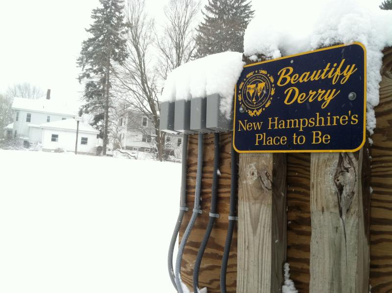 Derry was covered under a blanket of fresh snow Tuesday, the day before the first day of spring.