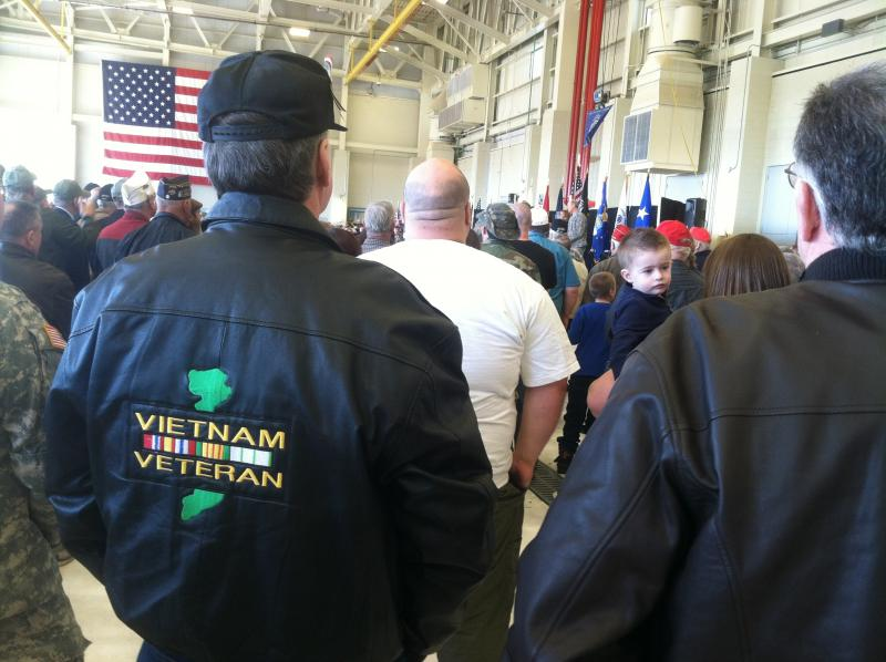 The hangar  the New Hampshire National Guard was packed for the Welcome Home Vietnam Veterans event on Saturday.