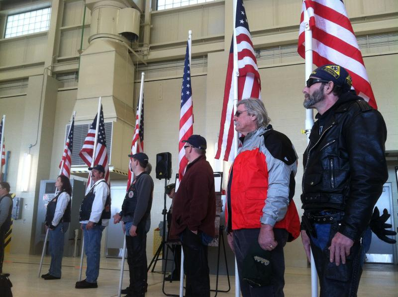 The scene at the Welcome Home Vietnam Veterans event in Concord Saturday.