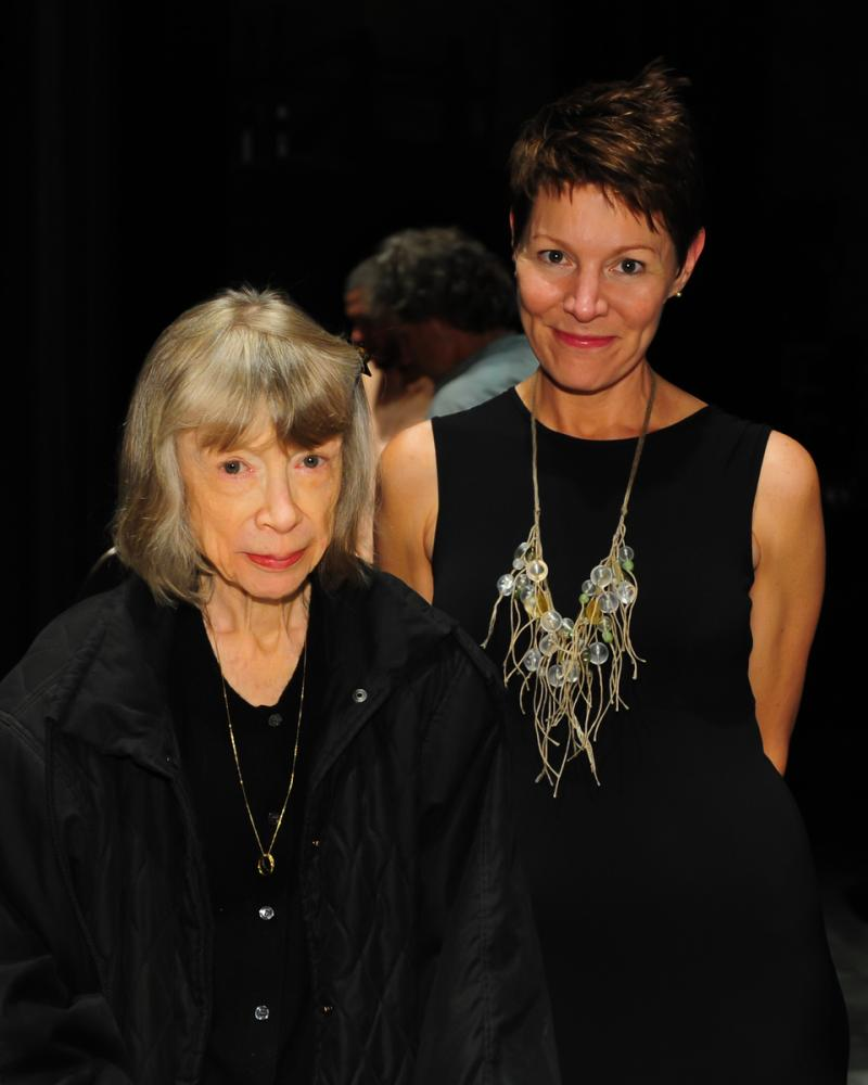 Joan Didion with host Virginia Prescott