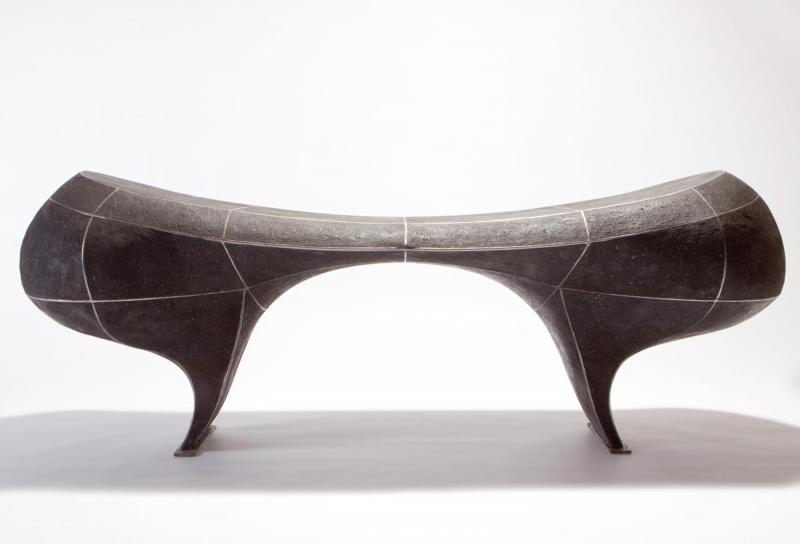 "This ""Bridge bench"" is in show in Concord, NH through April 9. It is priced at $9,800."
