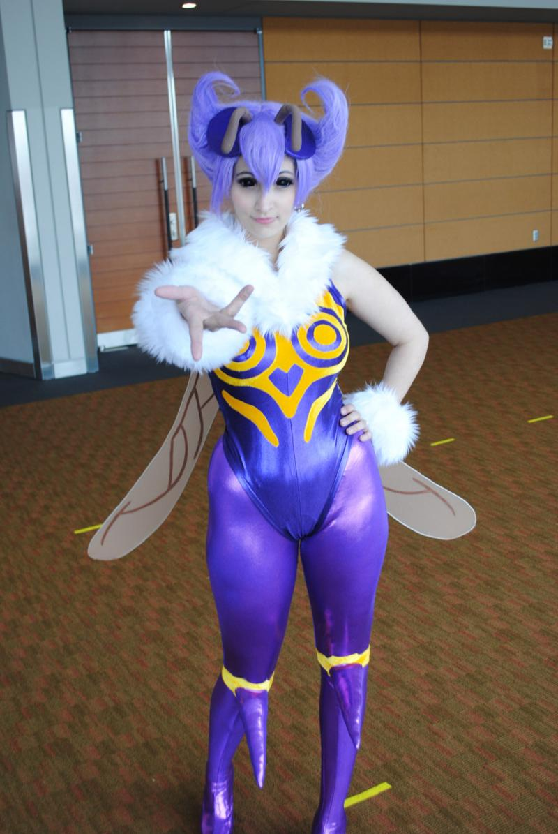 Q-Bee from Dark Stalkers poses for a picture