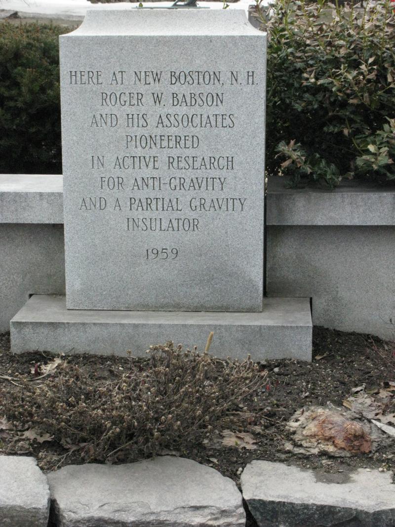 Roger Babson memorial marker