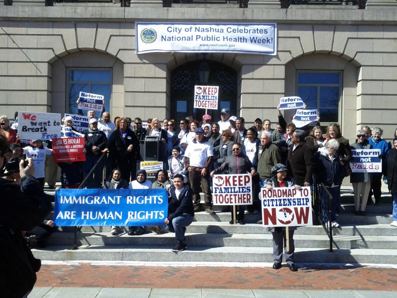 Immigration Rally in Nashua