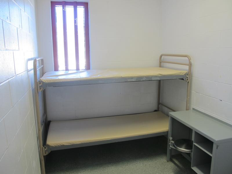 Some women sleep in very small cells. Others share a room with 21 other inmates.