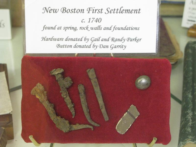 Artifacts discovered around New Boston's founding