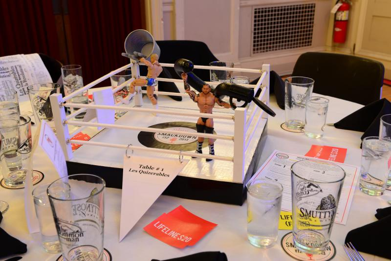 Smackdown-themed centerpieces