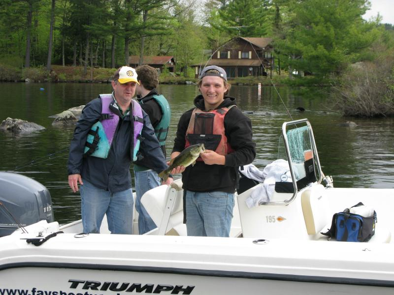 Bass were biting on a variety of baits, including artifical worms.