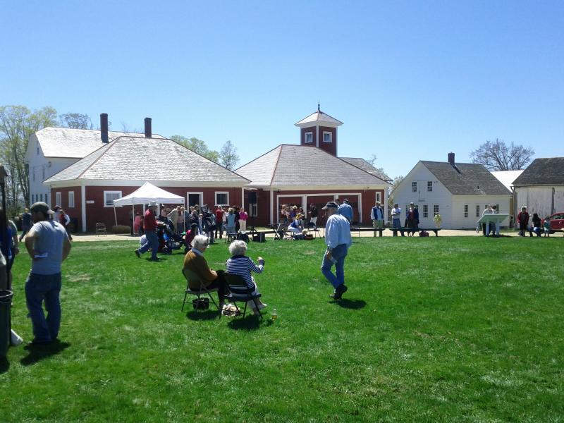 Attendees at Shaker Village's opening day