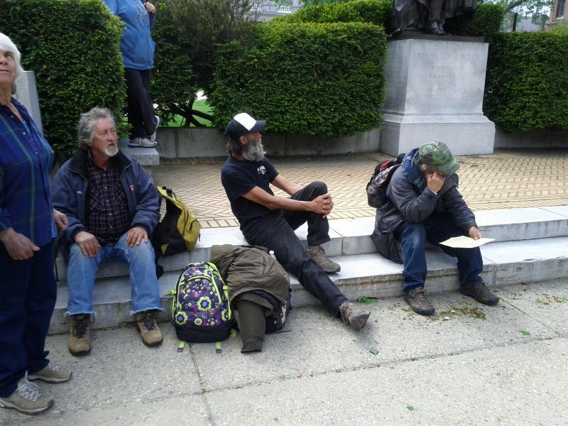 The three homeless plaintiffs