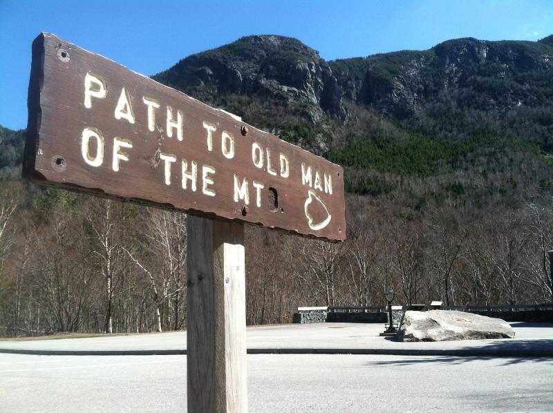 The Old Man of the Mountain site in Franconia Notch.