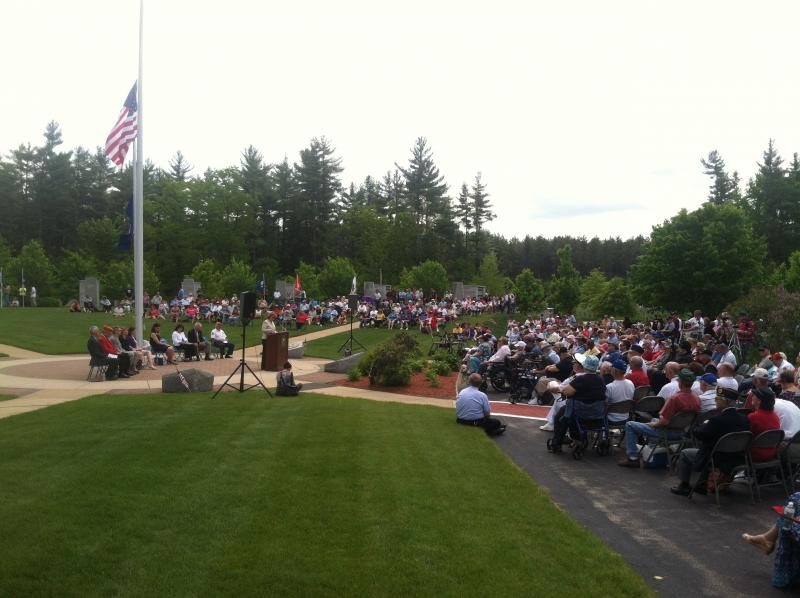 Hundreds turned out for the ceremony at the New Hampshire State Veterans Cemetery on Thursday.