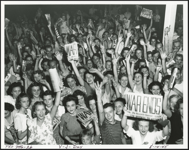 On August 14, 1945, Oak Ridgers and people everywhere celebrated the end of World War II.