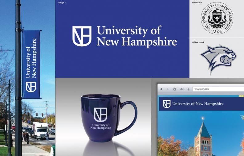 This is the second of three design options for the new University of New Hampshire logo.