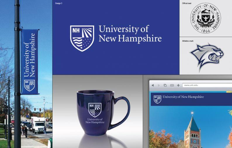 This is the third of three design options for the new University of New Hampshire logo.